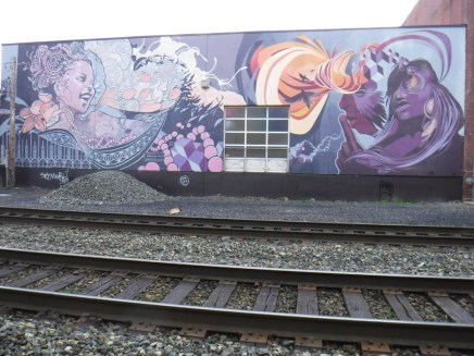 Large Mural by Ashley Montague & Joshua Mays - Railroad Tracks and SE Yamhill.