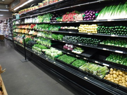 Fresh Vegetables on the shelf.