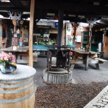 Part of large patio at Roadside Attractions.