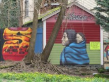 Decolonize By Derek Yost - SE 12th & Lot between Belmont and Yamhill