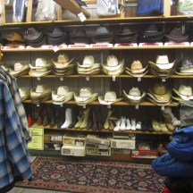 If you need your straw hat to keep you cool while working around the ranch or farm the have that.
