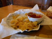 We went through our food and beer so quickly that all I got a photo of was the last of chip.