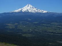 View of Mt. Hood from the top of Bald Mt.