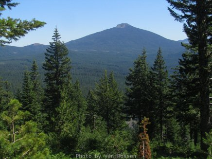 View of Olallie Butte form the road on the way up.