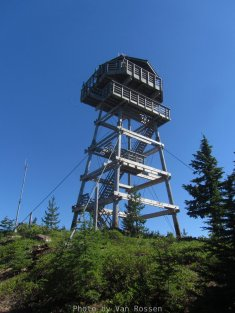 Sisi Butte Lookout tower. It was build in 1979 to replace the original tower.