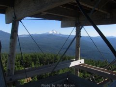 Mt. Jefferson view through the tower.