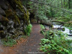 Short Trail up to Little ZigZag Falls.