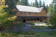The historic National Park Inn located at Longmire in Mt. Rainier National Park.