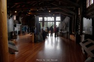 Inside the Sunrise Visitor Center. It was end of season so a number of the exhibits were not working.