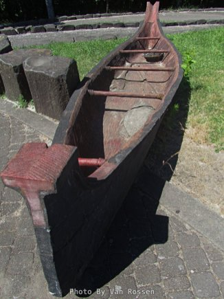 Replica of a dug out canoe