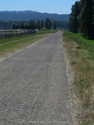 Levee trail into the Wildlife Refuge
