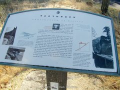 Historic Info Sign at Tooth Rock