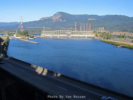 View of Bonneville Dam from Tooth Rock