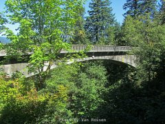 Historic Single spanned arch bridge at Moffet Creek