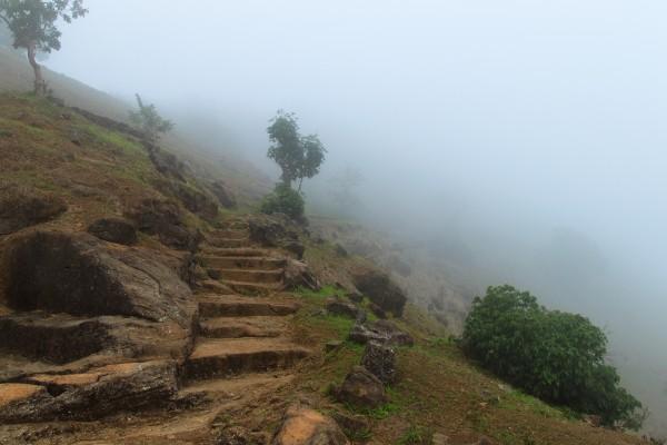 Misty Fort Steps