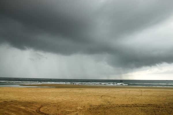 Betul Beach as the rain approaches