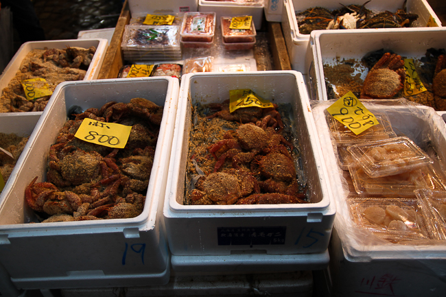 Crabs on sale at the market