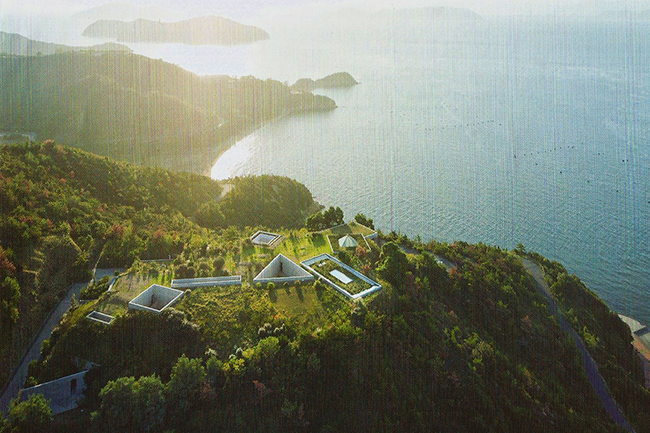 The Chichu Art Museum was designed by architect Tadao Ando to be almost completely underground