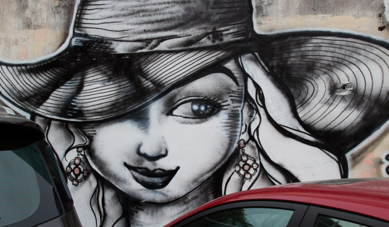 This mural is straight out of some noir novel