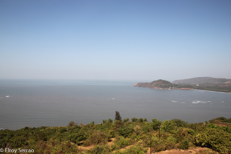 The Velas coastline from Bankot fort