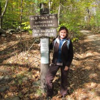 Kathy on the old toll road