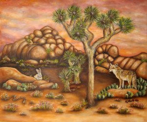 Kathy's Painting of Joshua Tree National Park