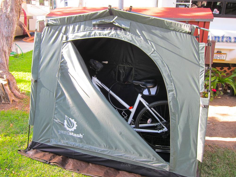 YardStash II With Bike