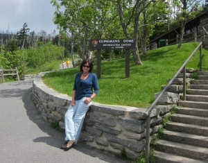 Kathy at Clingman's Dome