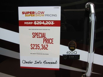 """The Truth About """"RV Show Special"""" Pricing"""