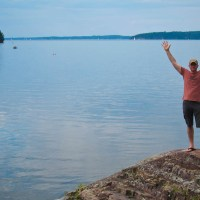 Rich on Lake Champlain