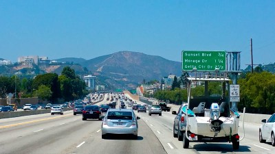 Driving Through Los Angeles