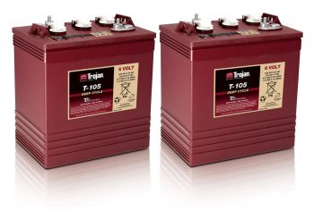 Trojan T-105 6V Golf Cart Batteries