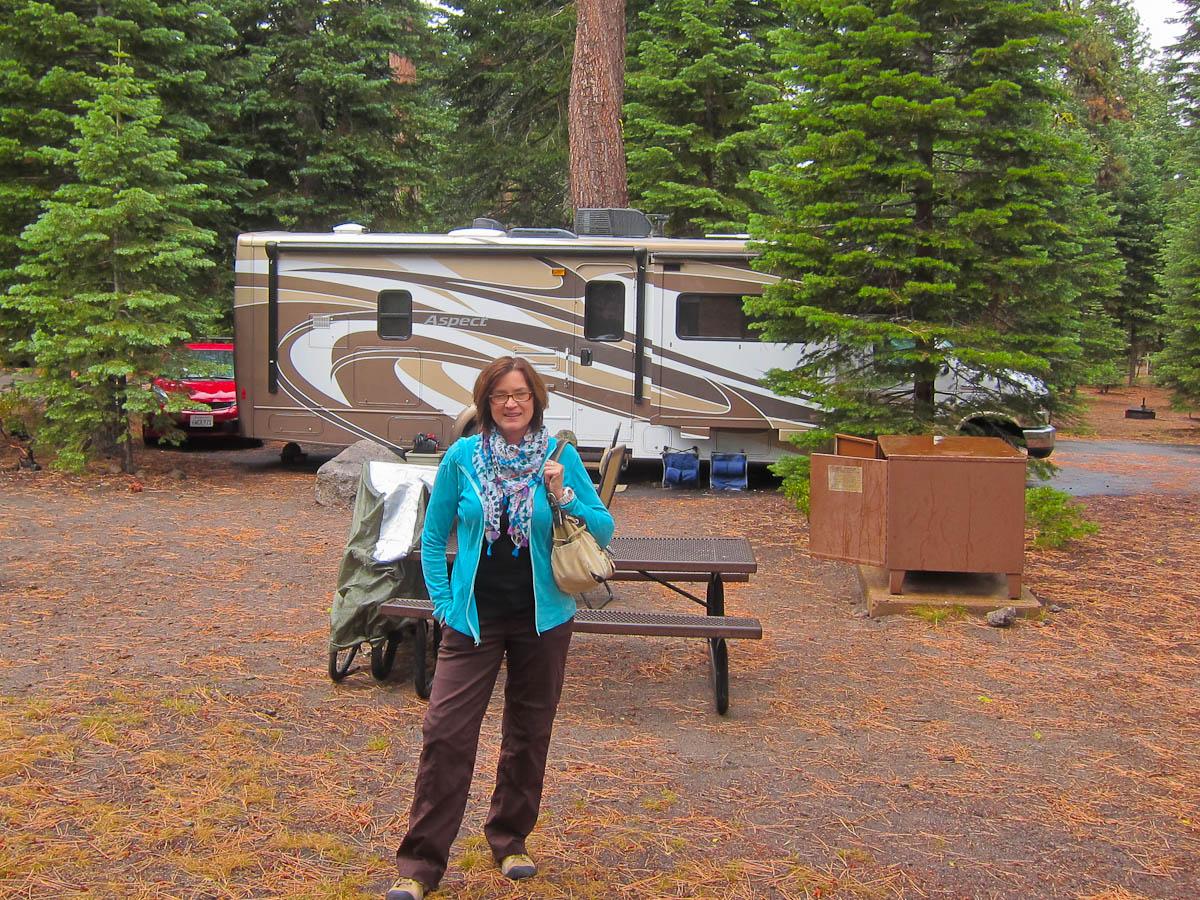 Our Campsite at Manzanita Lake Campground