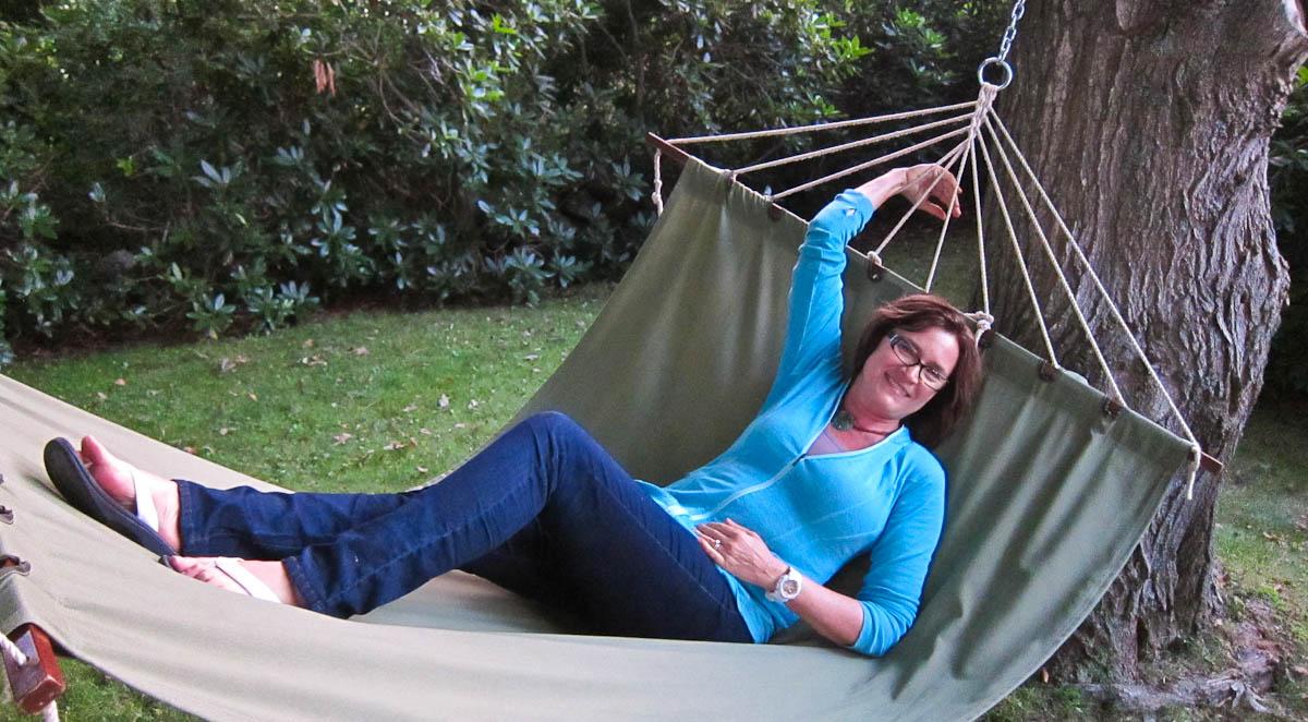 Kathy enjoying a low-key afternoon