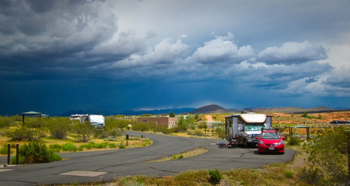 Lightning can do a lot of damage to an unprotected RV!