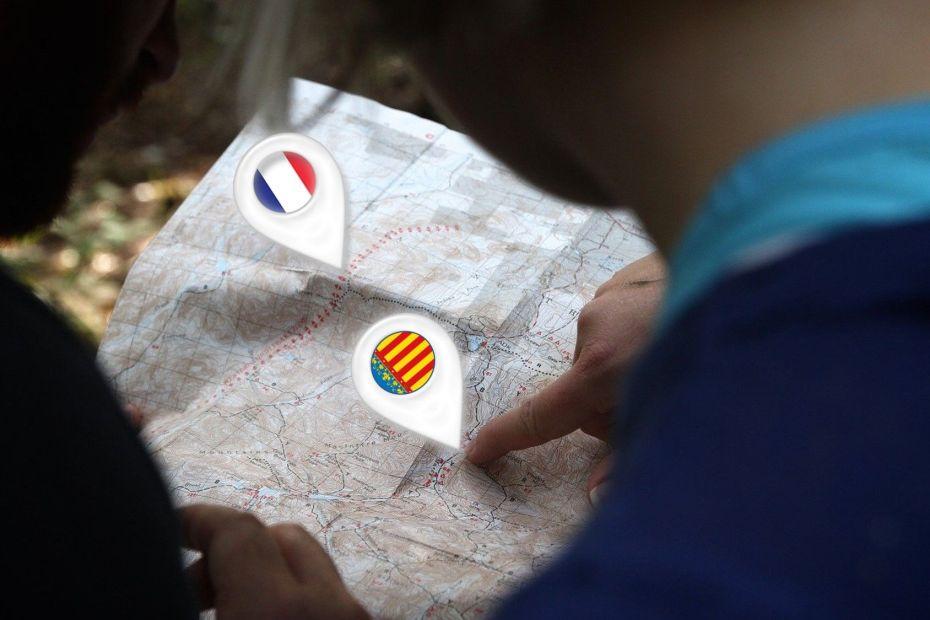 Mapa Valéncia França