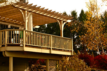 Raised Deck Pergola By Trellis Structures