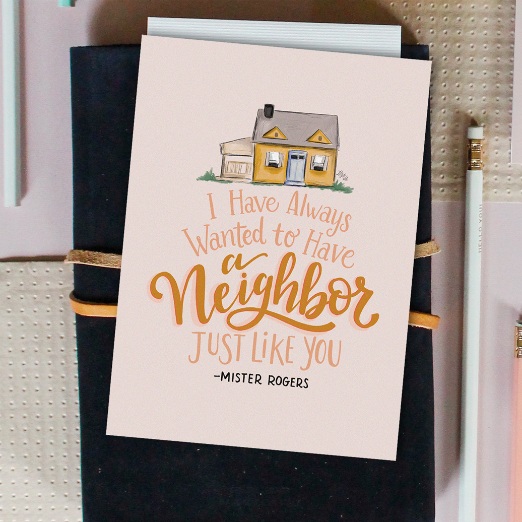 Mister Rogers Neighbor Free Hand-Drawn Download By Lily & Val