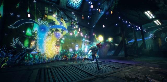 Personagem principal no ambiente do jogo.
