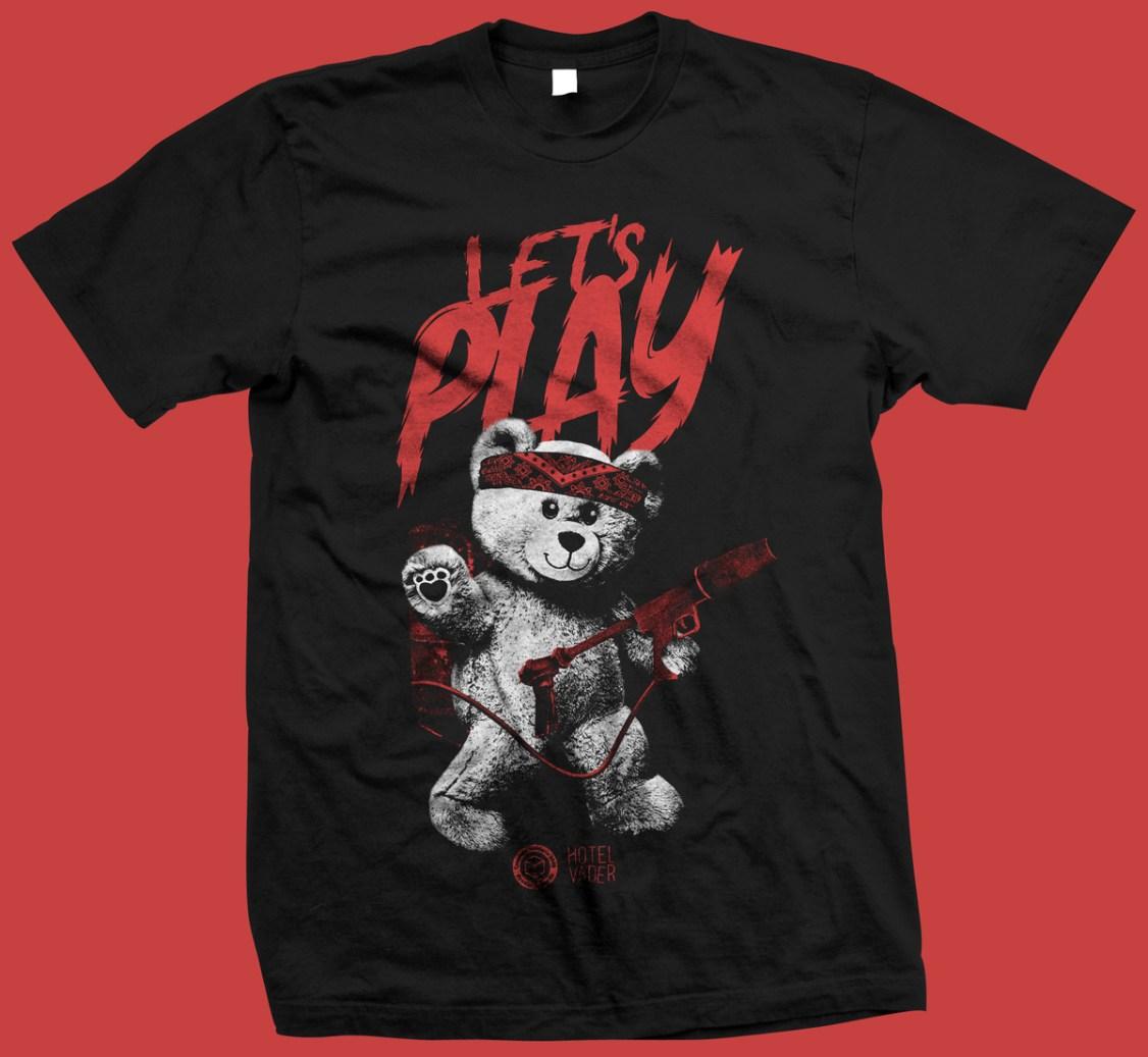 Diseño de la camiseta de Hotel Vader para Ayudar Jugando