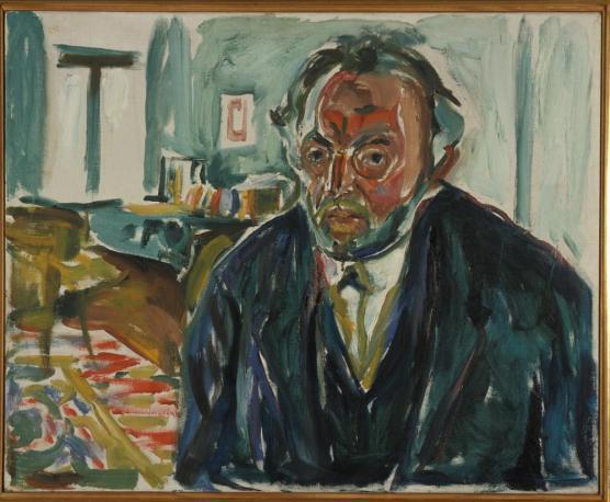 (L'autoportrait avec la grippe espagnole, 1919, Edvard Munch)