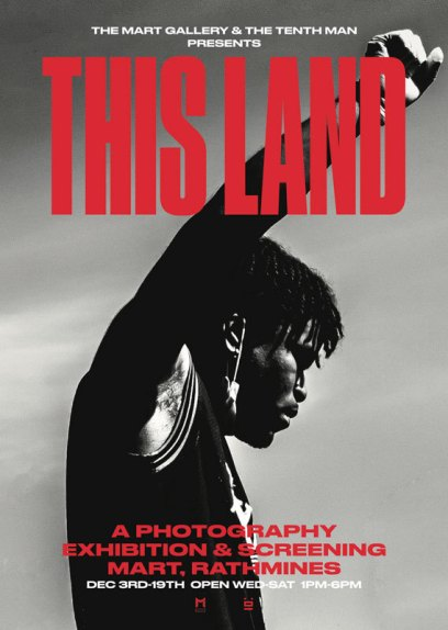 Promotional poster for THIS LAND exhibition, one of the LGBTQ events in Winter