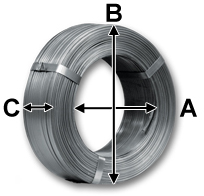 Oscillated coils dimensions