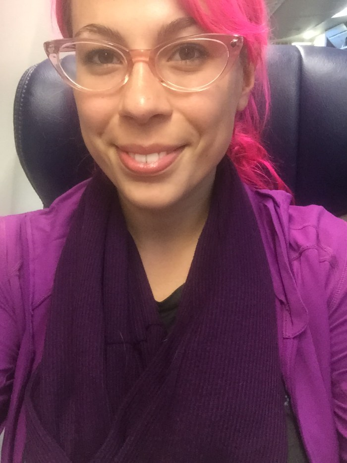 My Speakeasy Travel Scarf in flight