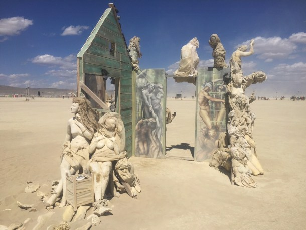 Creepy art at Burning Man