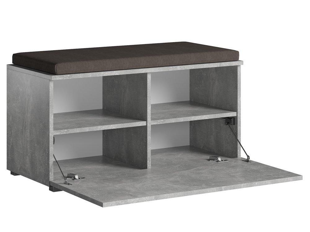 banc d entree avec rangement chaussures opal gris 4 placards