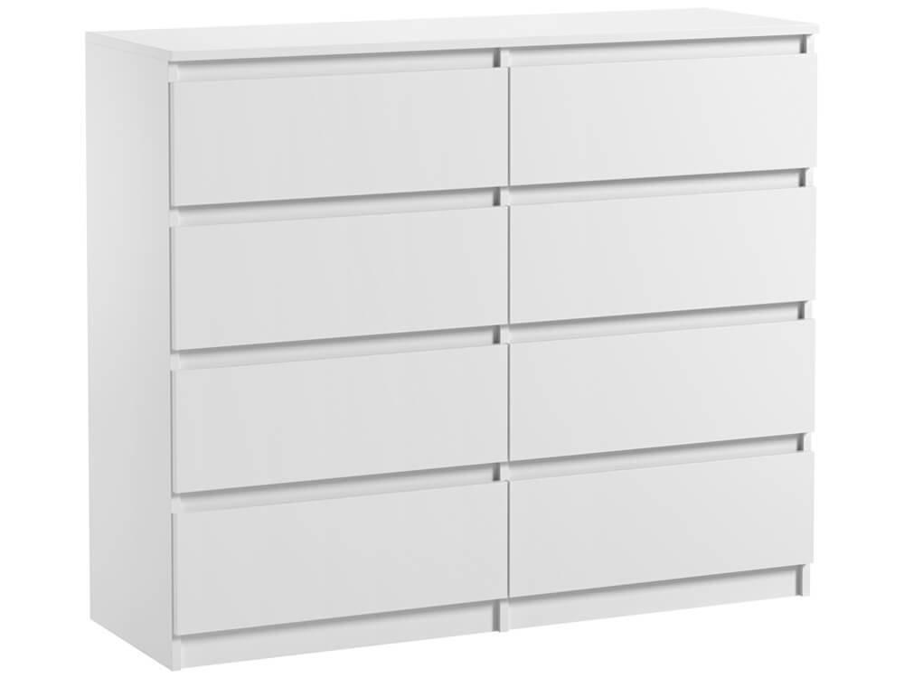 commode 8 tiroirs pari 8 blanc mat 99 5 x 120 x 35 cm