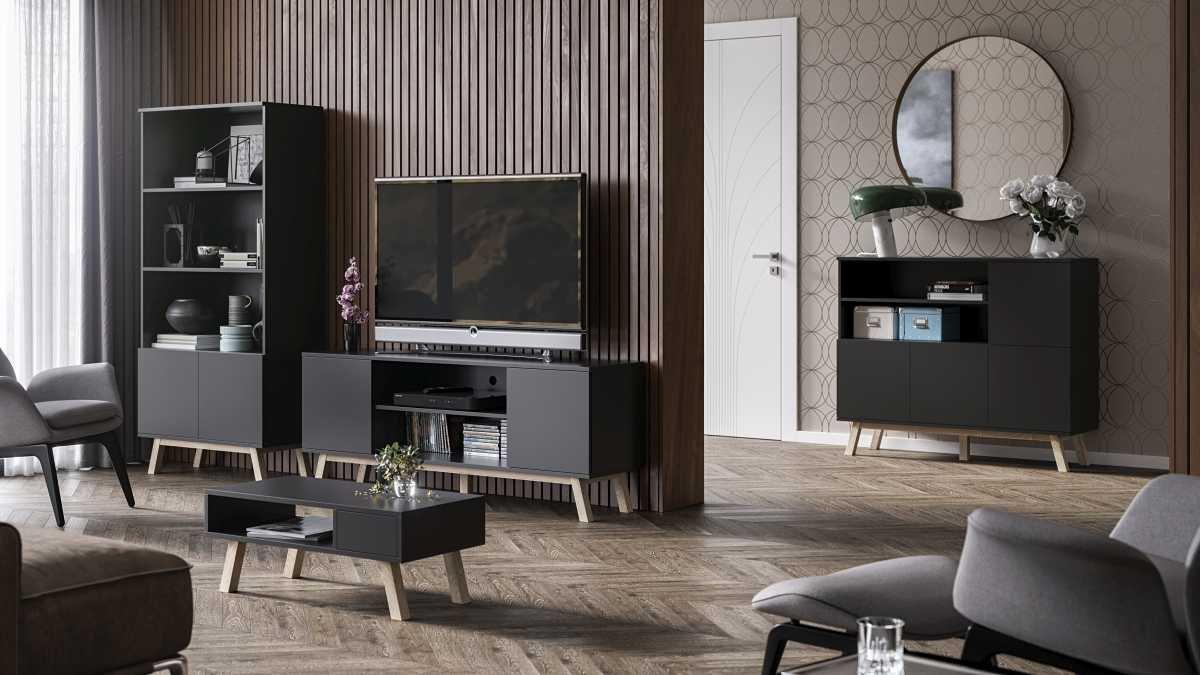 ensemble de meubles de salon vero noir mat
