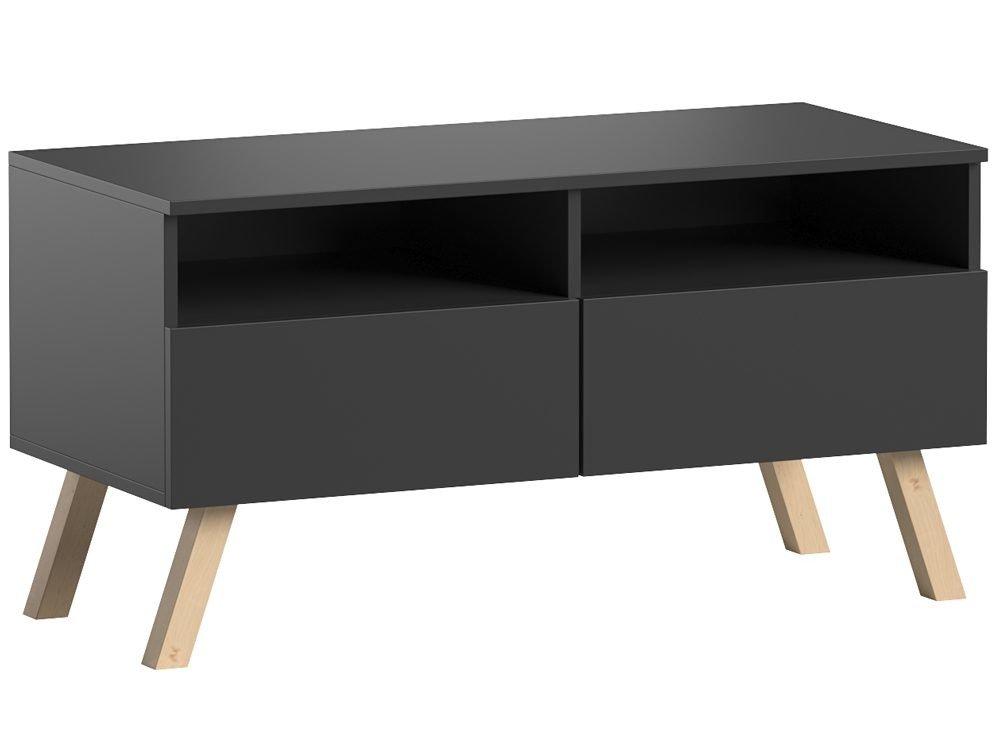 meuble tv astra i noir mat 100 cm