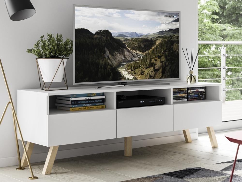 meuble tv astra ii blanc mat 150 cm